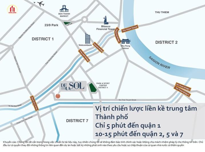 Vị trí chiến lược liền kề trung tâm Thành phố Chỉ 5 phút đến quận 1, 10-15 phút đến quận 2, 5 và 7